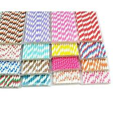 25X Colorful Paper Drinking Straws for wedding Halloween Baby Shower party Xmas