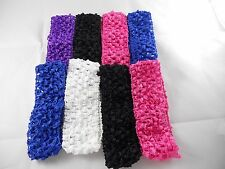 Wholesale 8 pcs Girls  Crochet Headband With 1.5 inch Acrylic choose color.