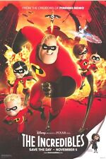 THE INCREDIBLES MOVIE POSTER 2S DISNEY PIXAR ANIMATION
