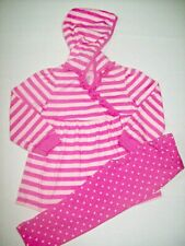 Baby Girls Organic Cotton Tunic Hoodie & Polka Dot Legging Outfit 18M 24M 4T NEW