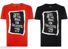 NWT Diesel LOGO Only The Brave Printed Cotton Tee Graphic Crew Neck T-Shirt