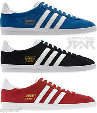 adidas Originals Gazelle OG Trainers Classic Suede Black Red Blue Sneakers Sport