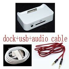 audio Dock Cradle Charger Docking Station cable for iPod Nano 2G 3G 4G 5G