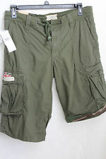 NWT! Denim & Supply Ralph Lauren Men's Army Green Field Cargo Shorts $89.50