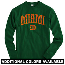 Miami 305 Long Sleeve T-shirt LS - Heat Dolphins Marlins Hurricanes  Men / Youth