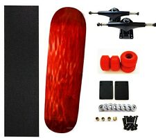"7.75"" 8"" Skateboard Completes Skateboard Deck Red Trucks BK Wheels Red Bearing"