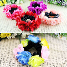 Nice Flower Garland Floral Head Knot Hair Top Scrunchie Band Elastic Bracelet