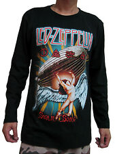 Led Zeppelin Swan Song US Tour 1973 Mens Long Sleeve T-Shirt Black M,L,XL