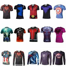 Superhero Marvel Costume Cycling T-Shirts  Short Long Sleeve Bicycle Jersey Men