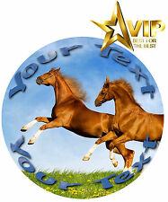 Horse Equestrian Photo Picture Wafer/Icing Edible Cake Cupcake Topper Decoration