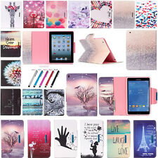 Fashion Folio Flip Stand TPU+PU Leather Tablet Cover Buckle Case For Apple iPad