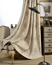 NEW Jacquard 3D Floral Cotton linen Custom Made Curtain bedroom Curtains