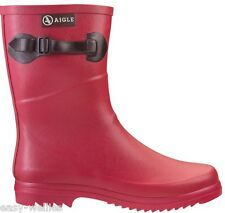 Aigle Ladies Chanteboot Pop Strawberry Short Length Wellington Boots Wellies