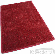 Red Indoor Outdoor Artificial Grass Turf Area Rug Bound Edges Marine Backing