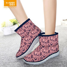 HOT Womens Ankle Flat Boots Winter Botines Mujer Warm Thicken Shoes Snow Boots