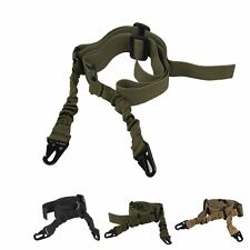 Adjustable Quick Tactical 2 Dual Two Point Bungee Rifle Gun Sling Nylon Strap