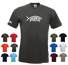 'Darwin' - Fish Evolve Evolution Darwinism Men's Funny Burthday Gift T-shirt