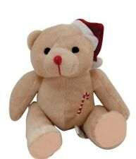CHRISTMAS SOFT TEDDY STOCKING FILLER DECORATION GIFT KIDS ADULTS PRESENT 14.5CM