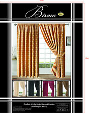 228.6cm x Jacquard Curtains Floral or Checked Square design + Free Tie Backs