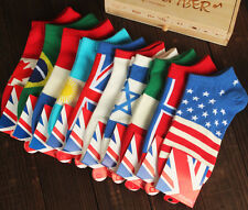 5Pairs Flags Mens Ankle Socks Low Cut Crew Casual Sport Color Cotton Socks New