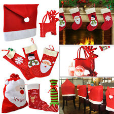 Christmas home Decorations Santa Toilet Clothing Chair Cover Candy Bag Gift Sock