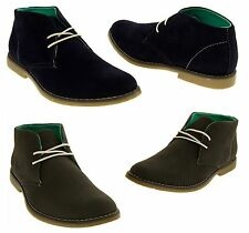 Mens Classics Faux Suede Desert Boots Lace Up Casual Boot Size 6 7 8 9 10 11 12