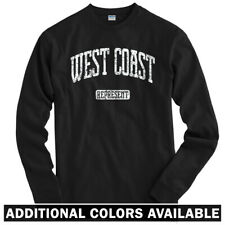 West Coast Represent Long Sleeve T-shirt LS - California Washington Men / Youth