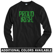 Proud Irish Long Sleeve T-shirt LS - Ireland Dublin Boston Philly - Men / Youth