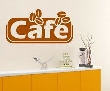 Wall decal cafe coffee beans kitchen decal wall sticker mural decal 5Q543