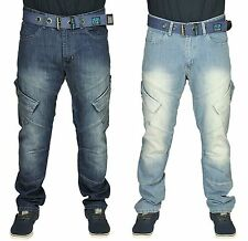 MENS BRAND NEW JEANS HENLEYS IN DARKWASH & STONEWASH COLOURS FREE BELT INCLUDED