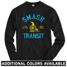 Smash Transit Cycling Long Sleeve T-shirt LS - Vintage Bicycle Bike  Men / Youth