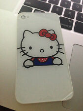 iPhone 4 GSM back glass replacement Hello Kitty New white