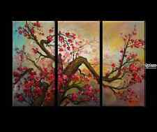 Cherry Blossoms Oil Painting-Hand-painted,Gallery Wrapped,FREE SHIPPING,LARGE nl