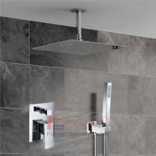 Square Wall Mounted Brass Hot&Clod Mixer Valve handheld Shower set For Bathroom
