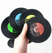 Retro CD Coasters album slip Vinyl Cup mat Record Table Bar Drinks Mats Set A48
