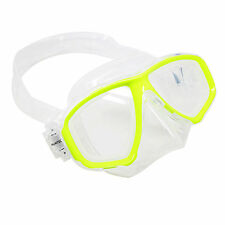 Scuba Yellow Dive Mask NEARSIGHTED Prescription RX Optical Lenses