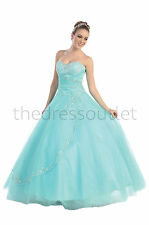 Strapless Sweetheart Neckline Quinceanera Formal Prom Dress Plus Size