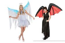 NWT ADULT INFLATABLE COSTUME WINGS - DEVIL OR ANGEL - GOOD VS EVIL AIR BLOWN