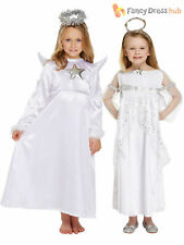 Girls Angel Fancy Dress Costume Christmas Nativity Outfit Xmas Childs Kids White