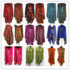 11 Color Chinese Lady's Double Side Butterfly Silk Pashmina Scarf Wrap Shawl
