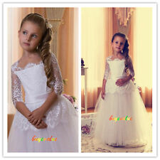 Formal Lace Baby Princess Bridesmaid Flower Girl Dresses Wedding Fashion party-G