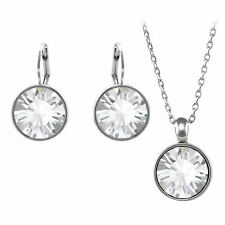 Regular Round Bella Earrings and Necklace Set made with SWAROVSKI® Crystals