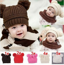 Cute Infant Newborn Baby Boy Girl Hat Soft Crochet Toddler Beanie Knitted Cap