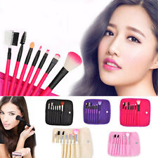 7X Professional Womens Makeup Pro Kits Brushes Solid Cosmetics Brush Tool Set