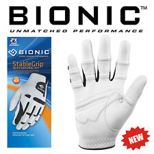BIONIC MENS STABLE  ORTHOPAEDIC GRIP CABRETTA LEATHER GOLF GLOVE R/H AND L/H