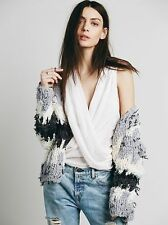 Free People Sleeveless Embroidered Gauzy Wrap Tank Top $88 Pale Light Pink