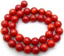 "SALE Big 11mm round Red natural High Quality Coral loose beads strand 15""-lo102"