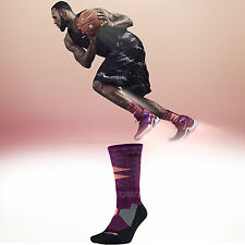 Nike Lebron James Hyperlite Purple Black Mens LBJ Basketball Socks SX5067-563