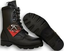 Black Leather Speedlace Military Combat Boots Great For Constrution Worker 5094