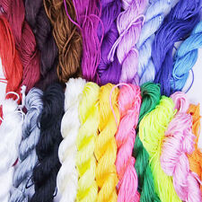 New Nylon Cord Thread Chinese Knot Macrame Rattail Bracelet Braided String 1mm